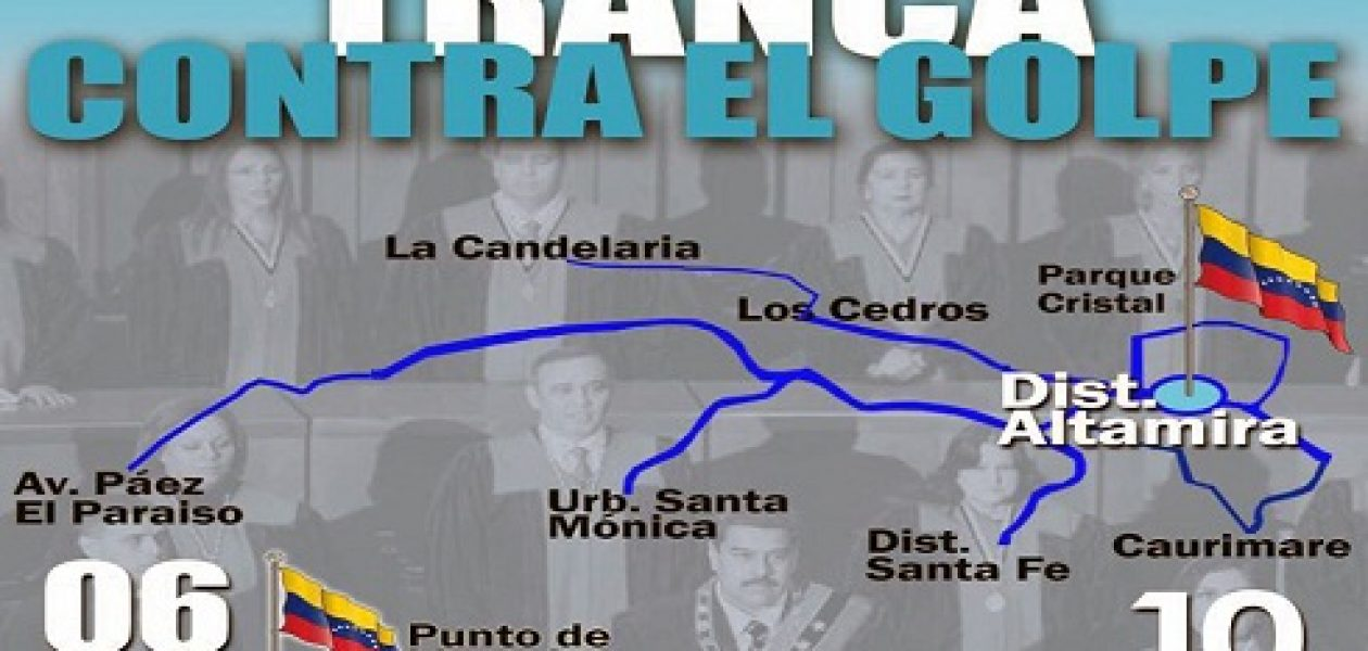 Marcha convocada para mañana llegará al Distribuidor Altamira