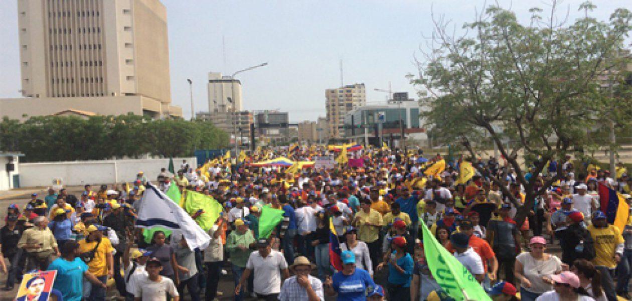 Así va la marcha de la oposición en Maracaibo