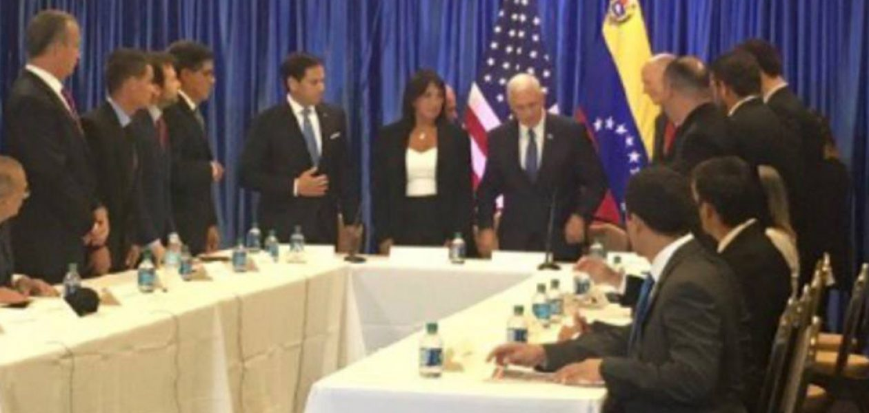 Mike Pence se reunió con dirigentes de la oposición venezolana