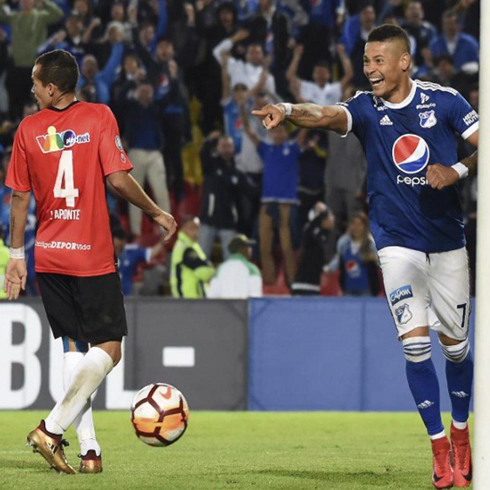 Millonarios se impone 4-0 a Deportivo Lara y toma aire en Copa Libertadores