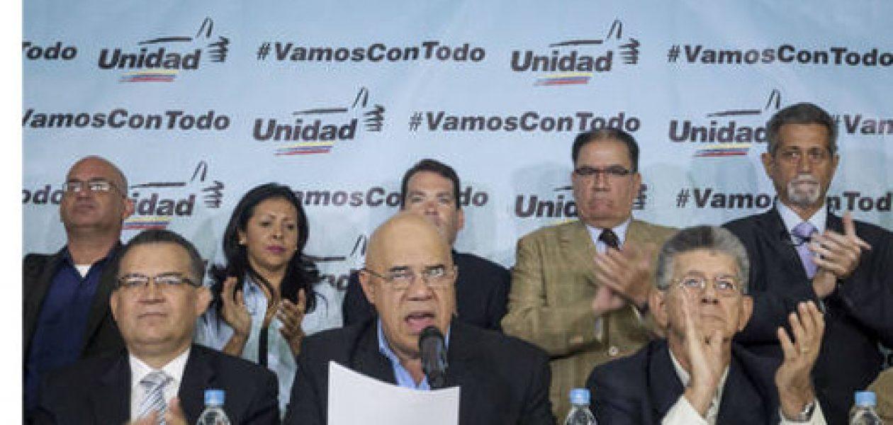 La MUD anuncia revocatorio, enmienda y calle para sacar a Maduro