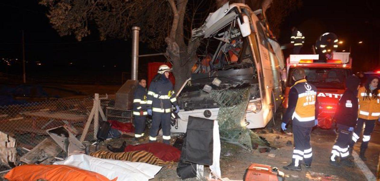 Once muertos y más de 40 heridos tras aparatoso accidente de autobús en Turquía (+fotos)