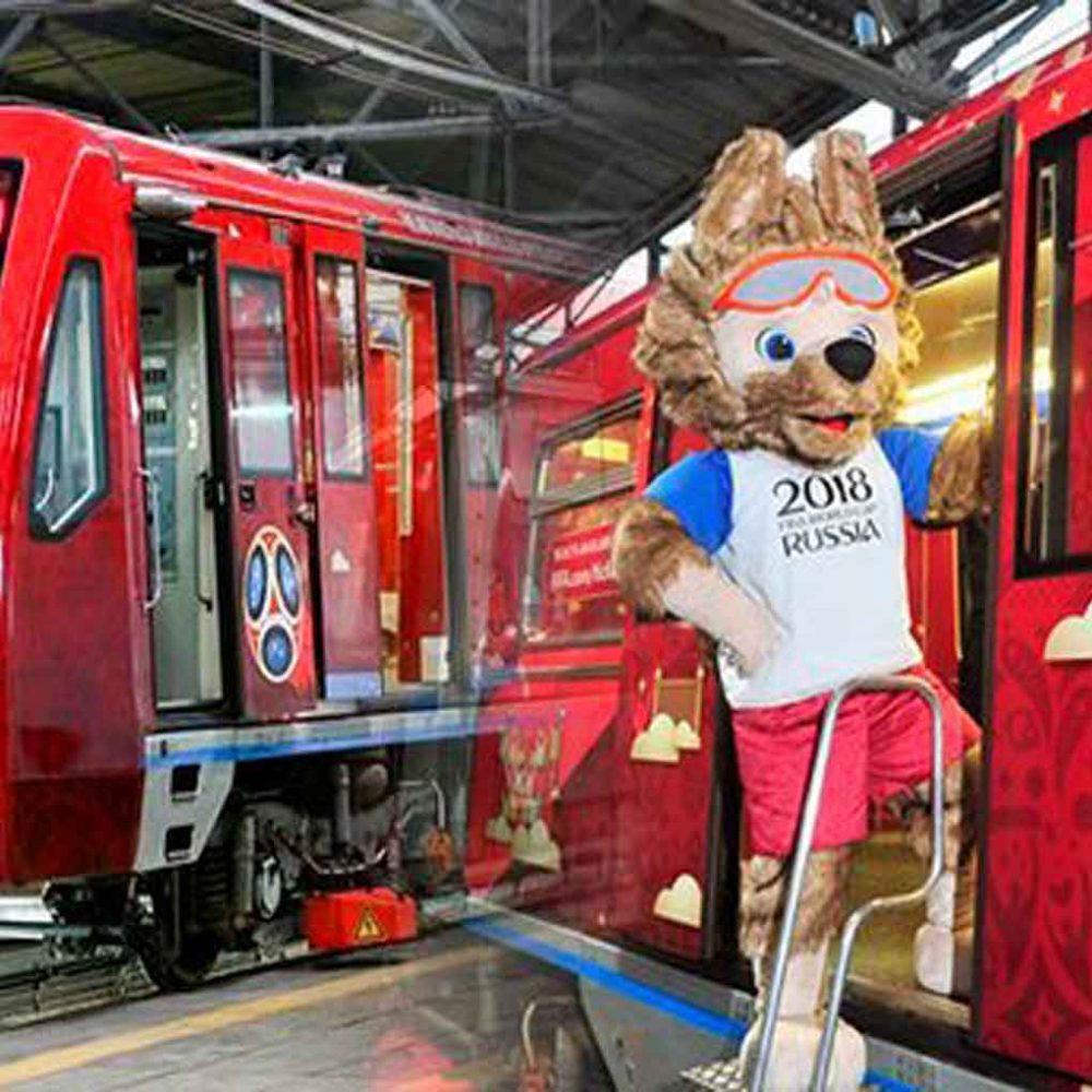 Los trenes serán la vía de transporte de los aficionados durante el Mundial de Rusia