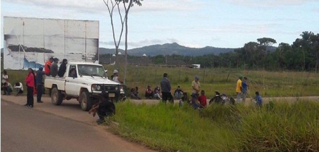 Municipio Gran sabana protestó por resultados electorales