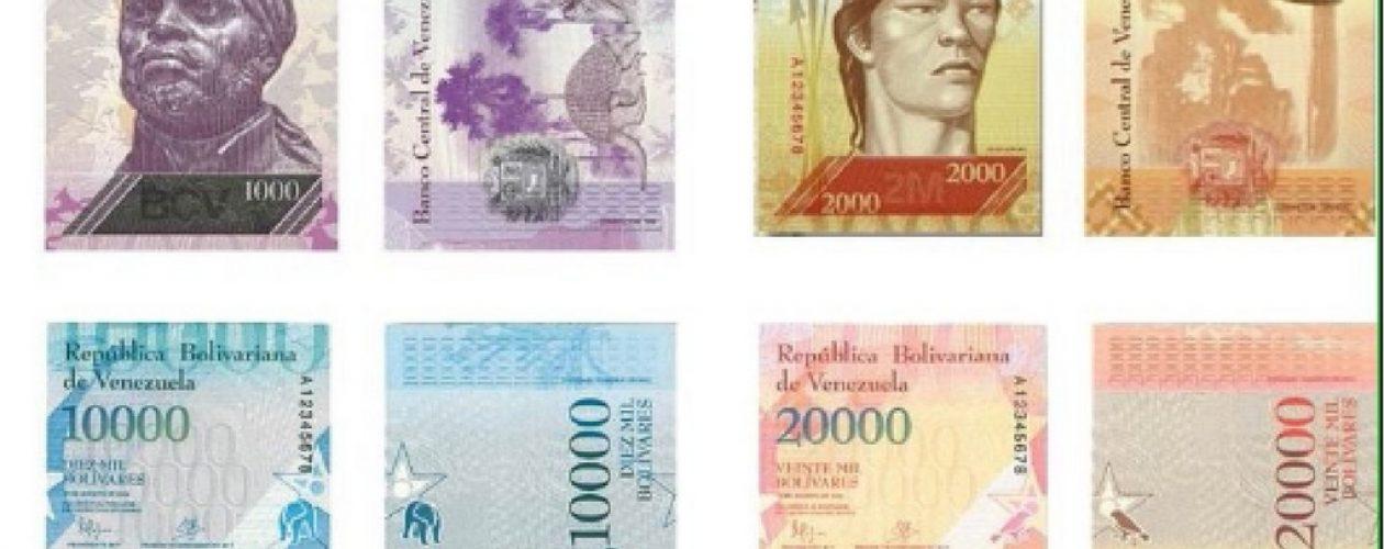 Llega al país nuevo cargamento de billetes de 20 mil y 2 mil bolívares