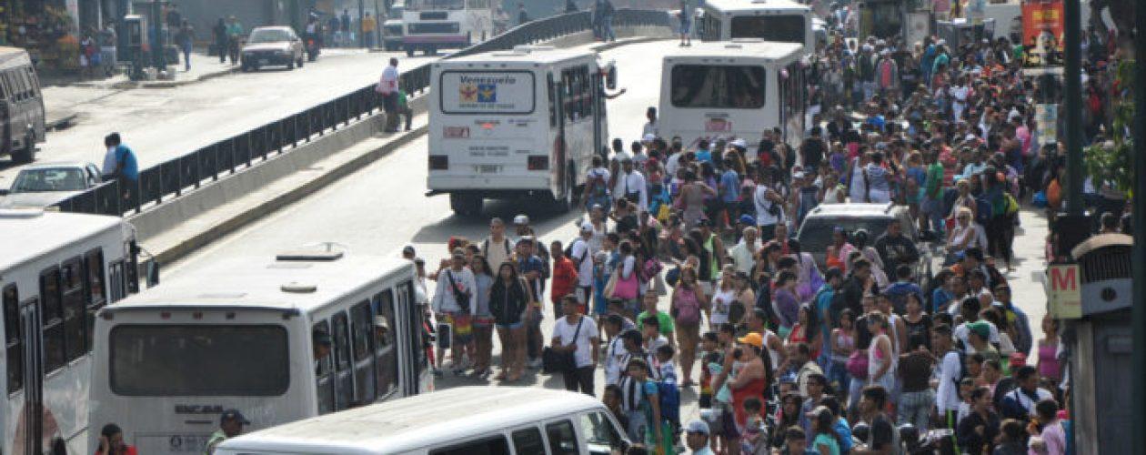 Al menos 90% de unidades de transporte están paralizadas