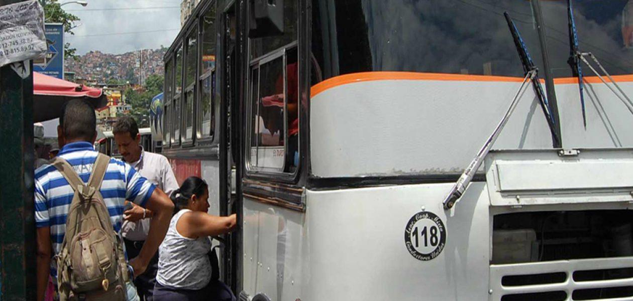 Anuncian paro de transporte en Caracas a partir del miércoles 19 de julio