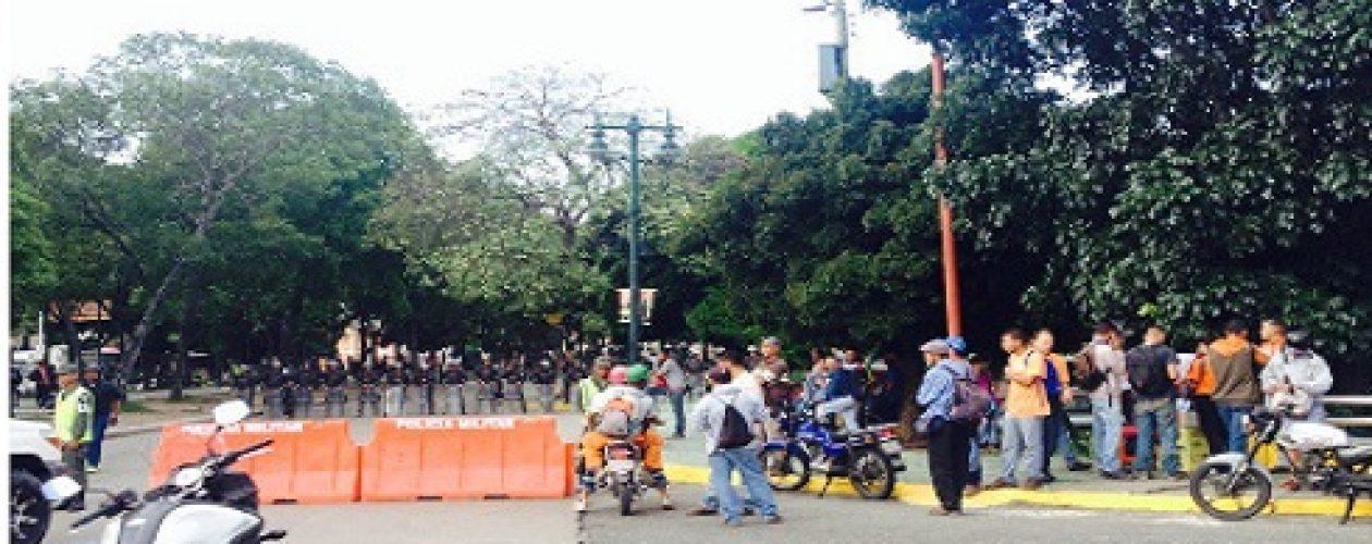 Guardia Nacional cierra accesos al Paseo Los Próceres