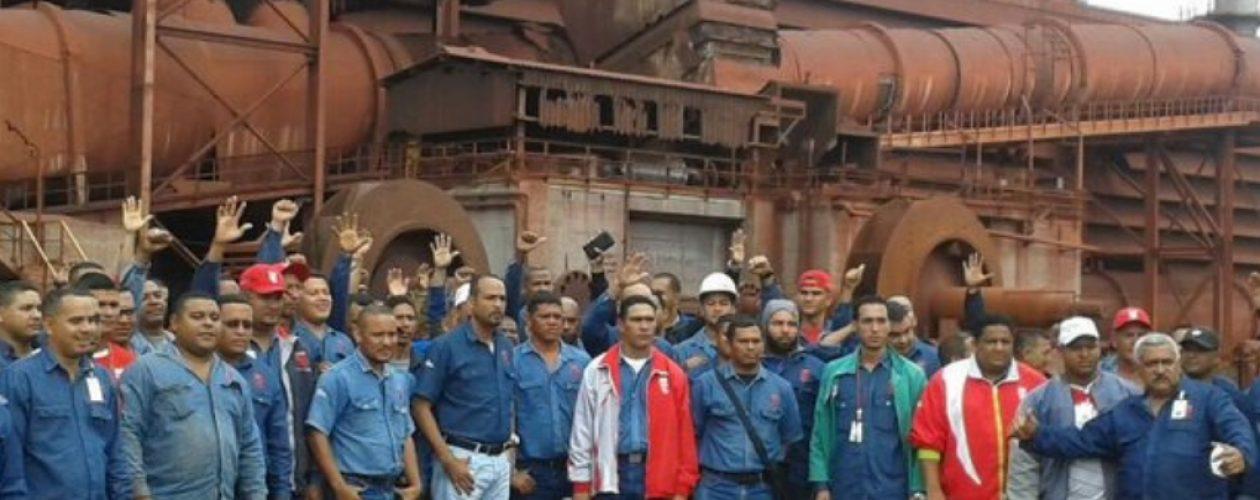 Trabajadores de Sidor protestaron por la paralización de la planta de pellas