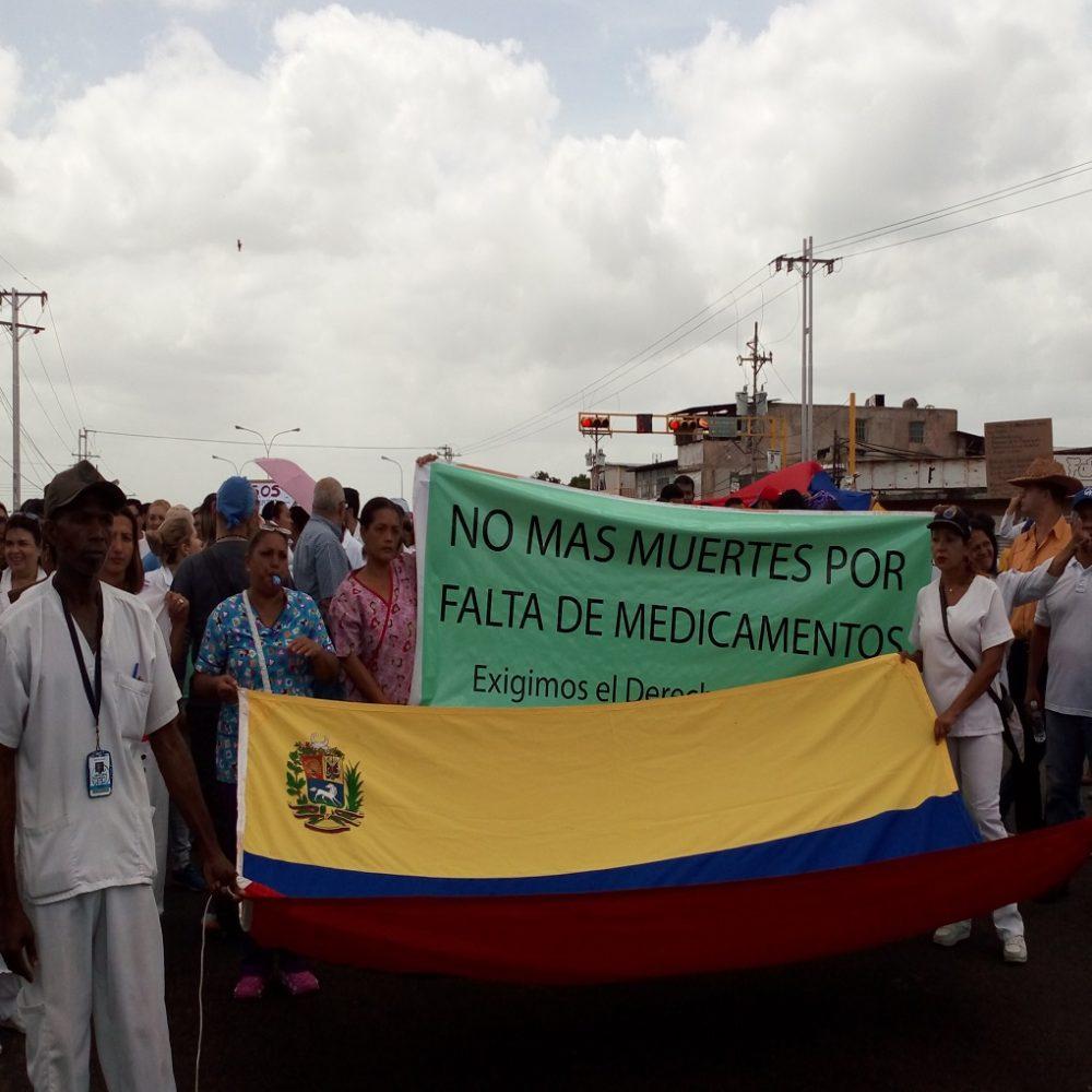Guayana atendió al llamado de la protesta de salud en Venezuela