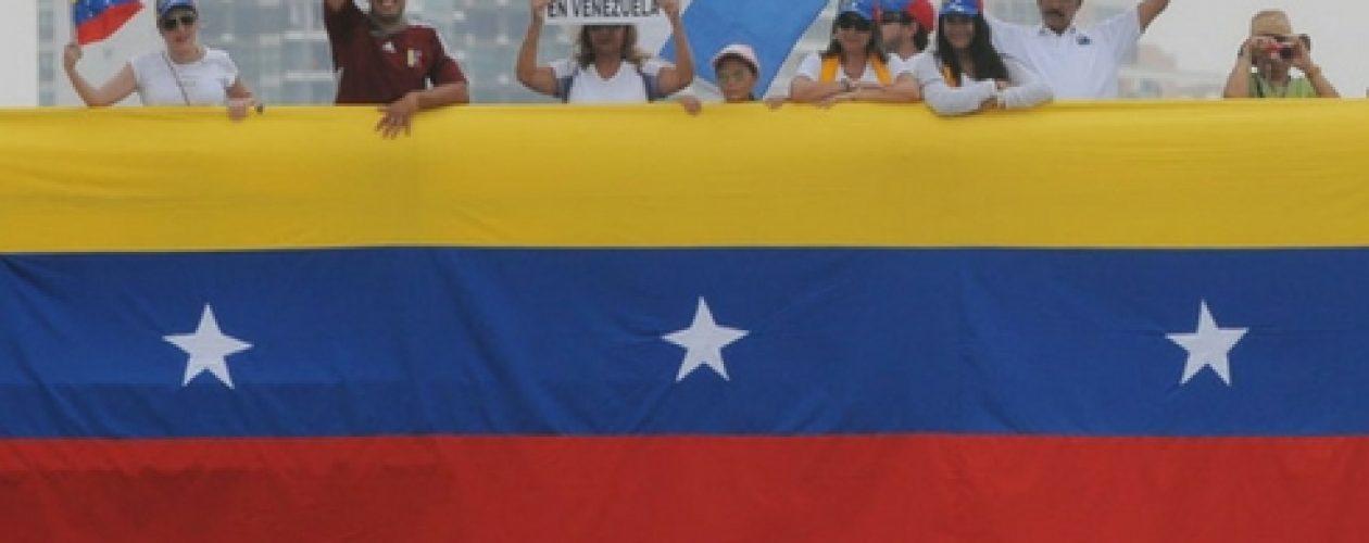 Amedrentaron la protesta de venezolanos en Panamá