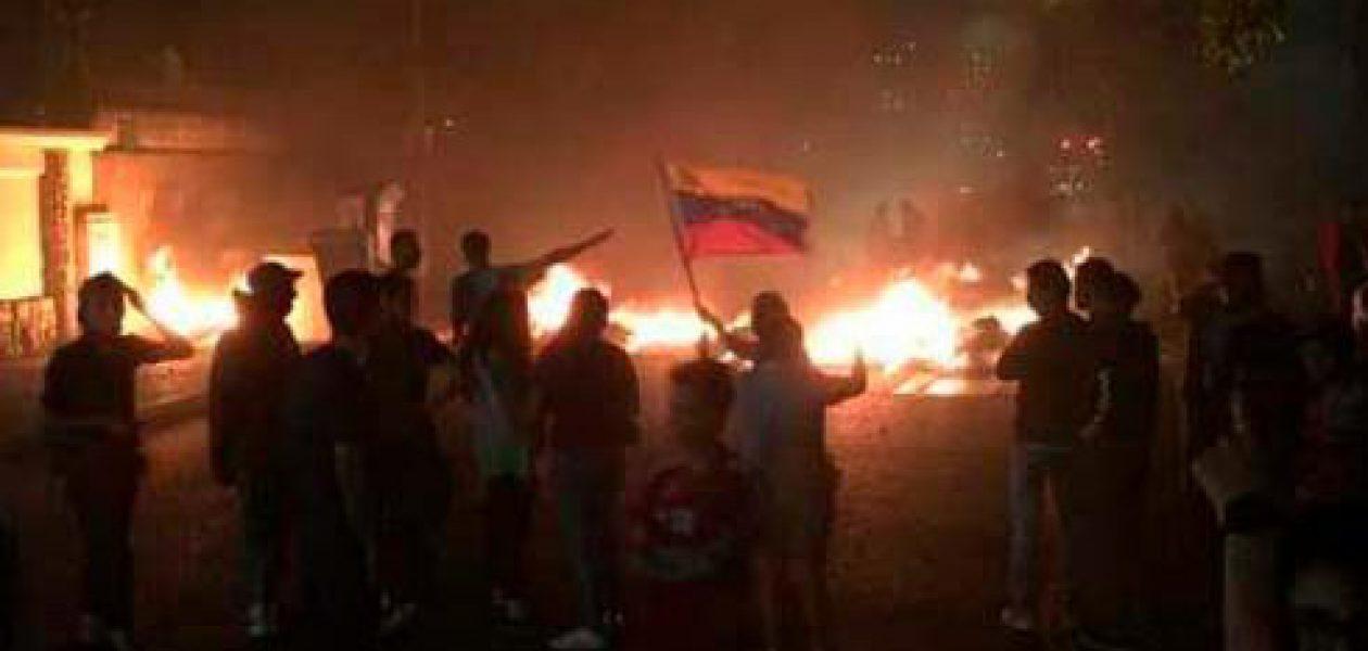 Protesta en El Paraíso y en Mérida contra el régimen