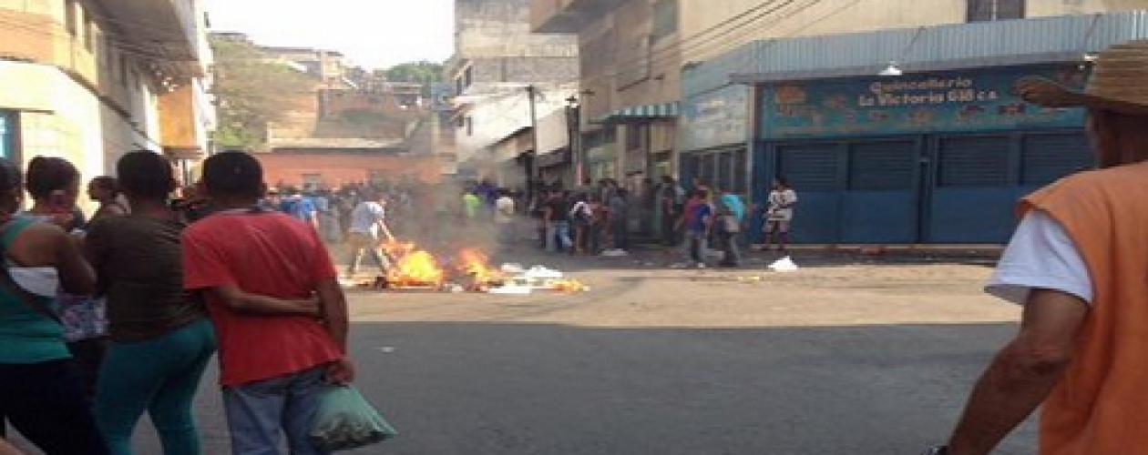 Protestas en Guarenas por tercer día consecutivo