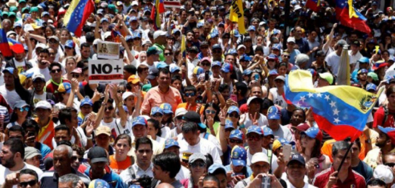 Protestas en Caracas por golpe de Estado a la Asamblea Nacional