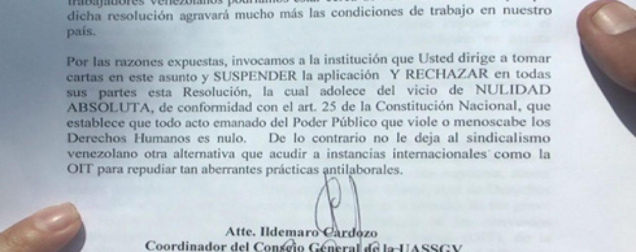 En Zulia exigen derogar la resolución 9855 que esclaviza a trabajadores