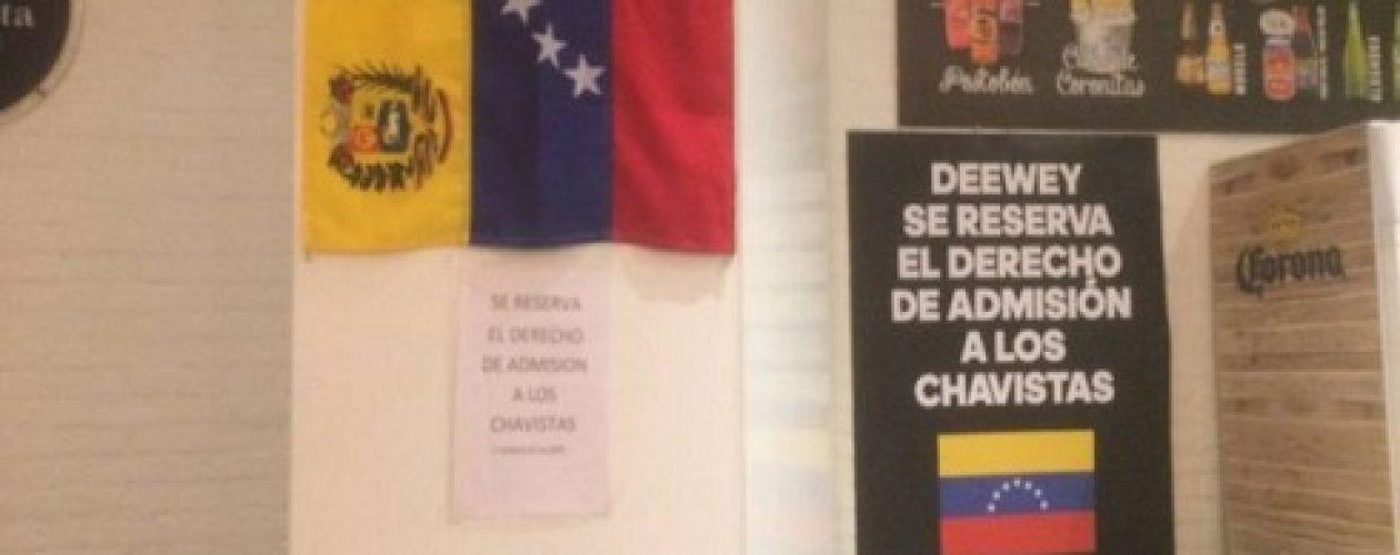 Restaurante de Madrid prohíbe entrada a chavistas