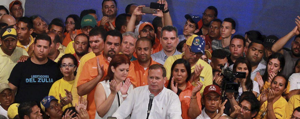 Juan Pablo Guanipa fue el ganador de las primarias en el Zulia