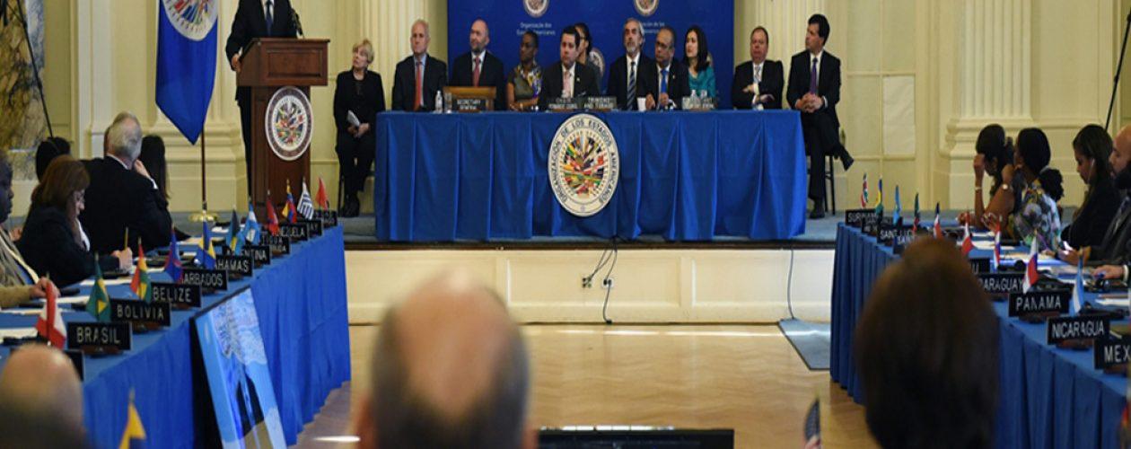 EE.UU pide sacar a Venezuela de la mesa de la OEA