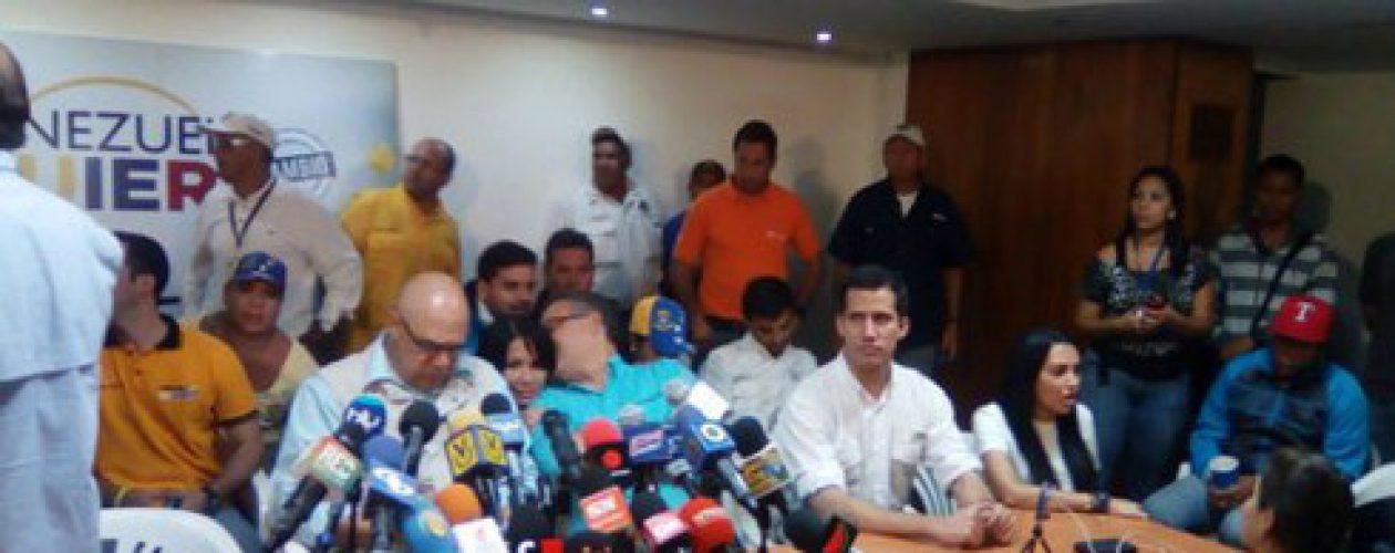 La MUD convoca marcha para el próximo sábado en Caracas