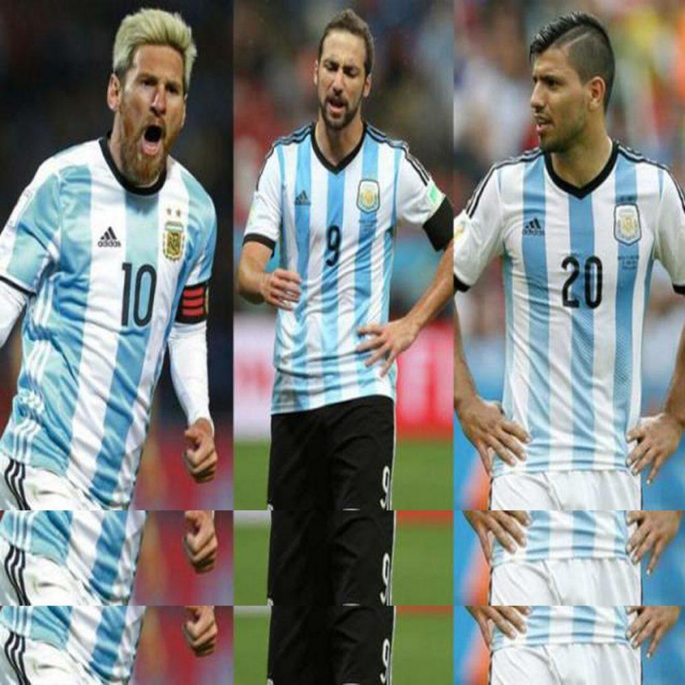Messi, Higuaín y Agüero liderarán el ataque de Argentina en Rusia 2018