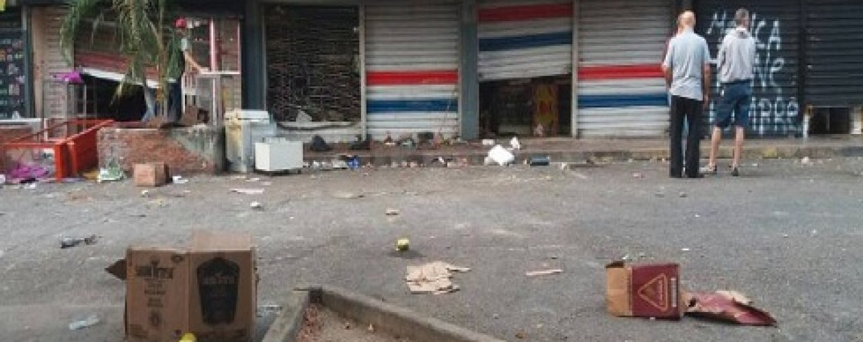 Saqueo en Guarenas enciende alarmas en el estado Miranda