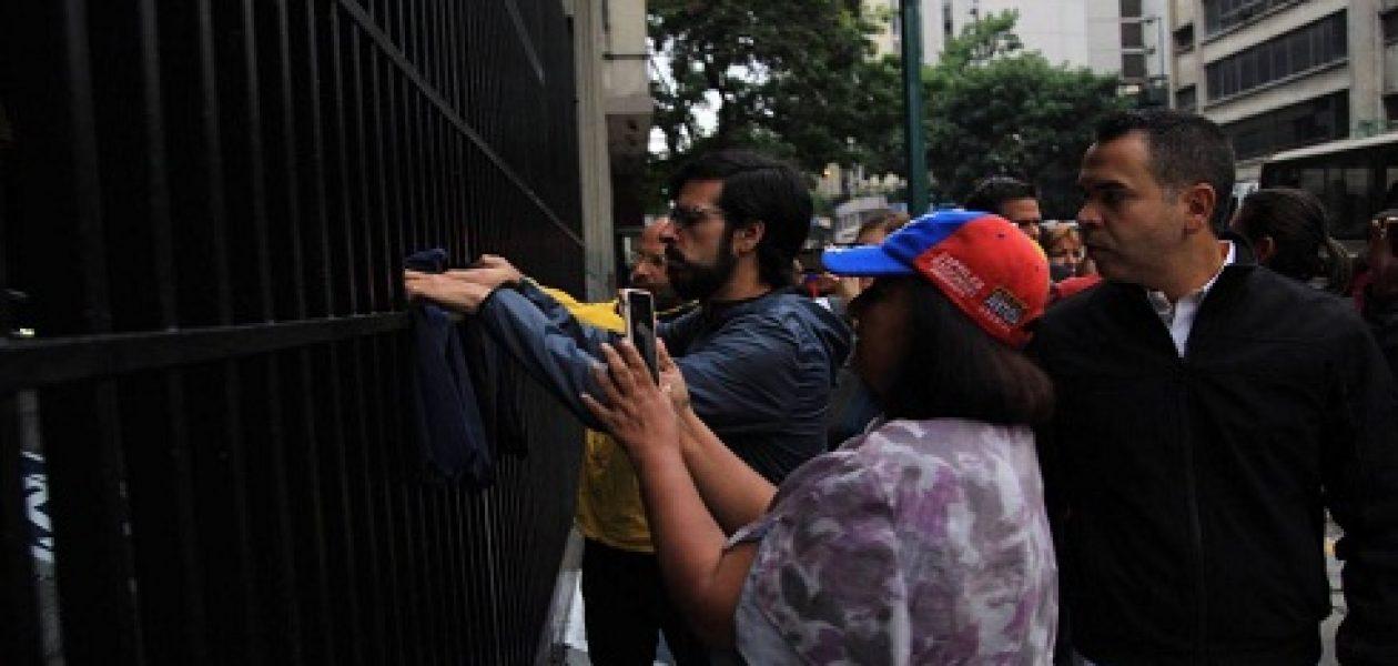 Diputados madrugaron en la sede del Ministerio de Interior, Justicia y Paz