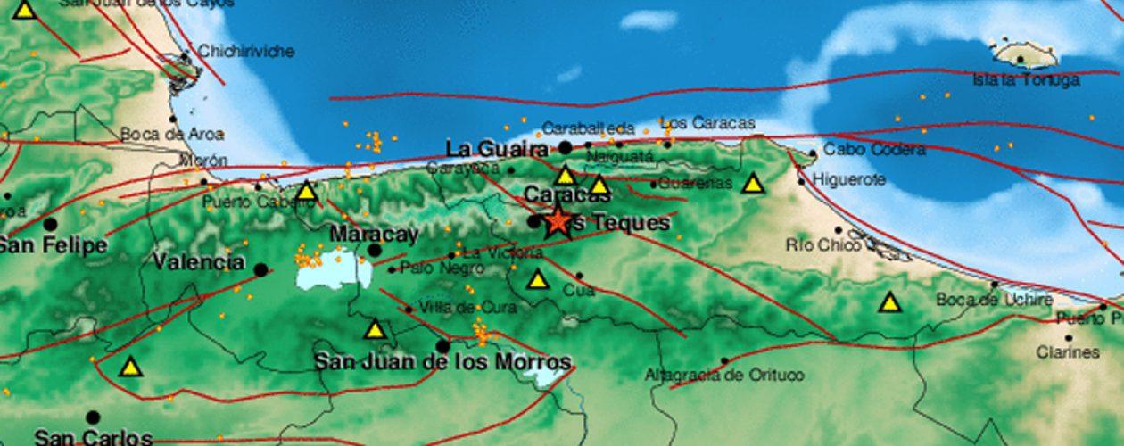 Se registró un sismo en Los Teques de magnitud 3.3