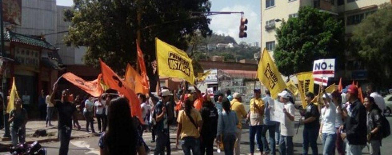 Así transcurre la marcha opositora tranca contra el golpe