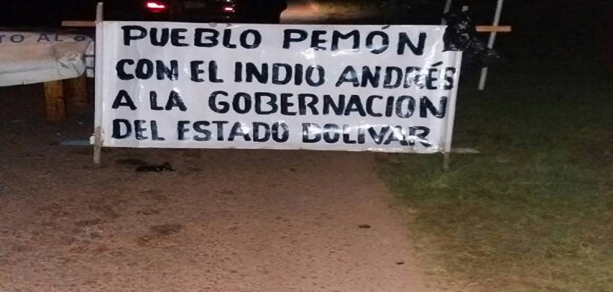 Indígenas exigen proclamación de Velásquez como gobernador de Bolívar