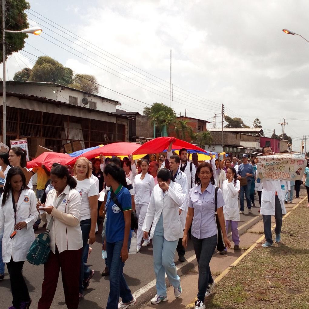 Así fue la protesta de salud en Ciudad Guayana