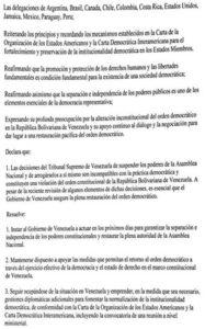 Sesión de la OEA sobre Venezuela aprueba resolución